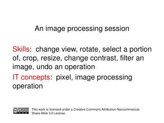 An image processing session