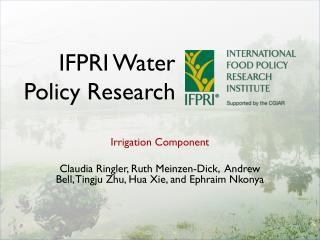 IFPRI Water Policy Research