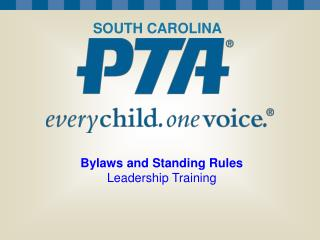Bylaws and Standing Rules Leadership Training