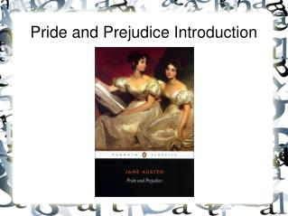 Pride and Prejudice Introduction
