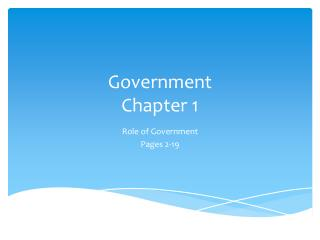 Government Chapter 1