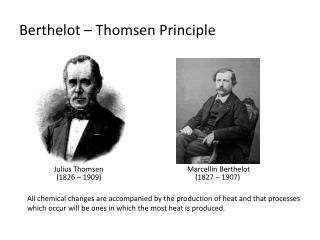 Berthelot – Thomsen Principle