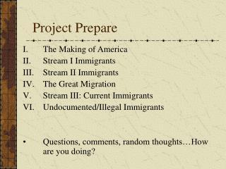 Project Prepare