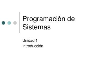 Programación de Sistemas