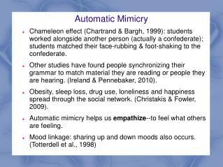 Automatic Mimicry