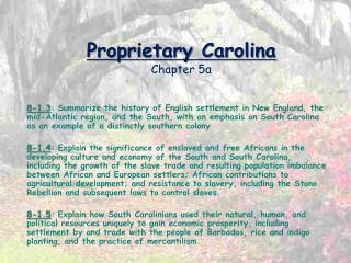 Proprietary Carolina Chapter 5a