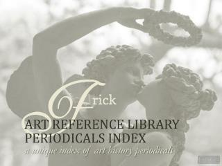 Art  Reference Library Periodicals  Index