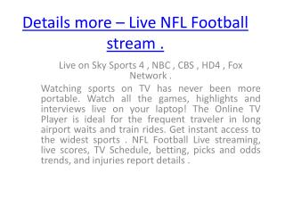 St Louis Rams vs Seattle Seahawks live NFL Football Week 17