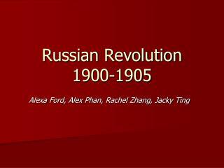 Russian Revolution 1900-1905
