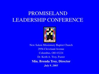 PROMISELAND LEADERSHIP CONFERENCE