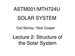 ASTM001/MTH724U SOLAR SYSTEM