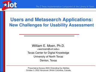 Users and Metasearch Applications: New Challenges for Usability Assessment