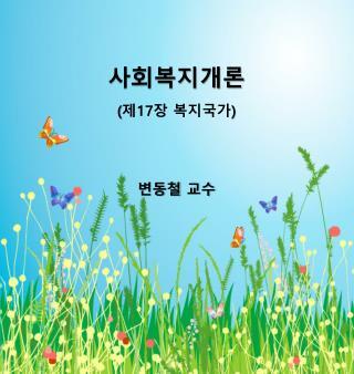 사회복지개론 ( 제 17 장 복지국가 ) 변동철 교수