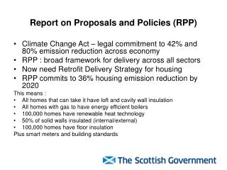 Report on Proposals and Policies (RPP)
