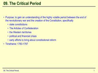 09. The Critical Period