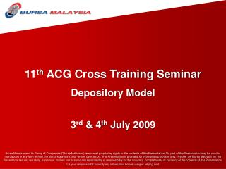 11 th  ACG Cross Training Seminar