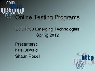 Online Testing Programs