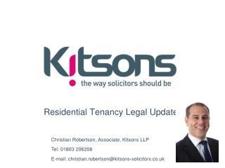 Residential Tenancy Legal Update