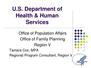 U.S. Department of Health & Human Services
