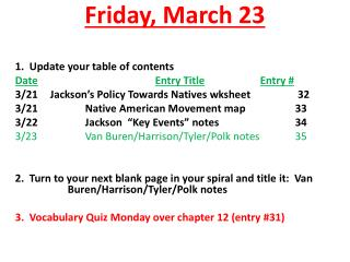 Friday,  March  23