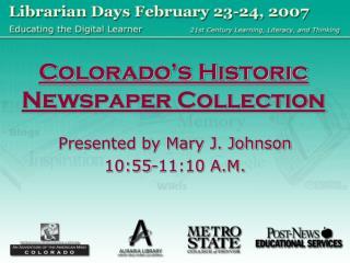 Colorado's Historic Newspaper Collection