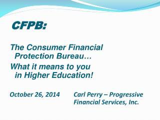 CFPB: