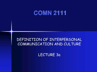 COMN 2111