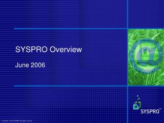 SYSPRO Overview