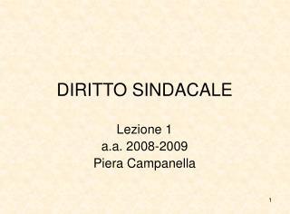 DIRITTO SINDACALE