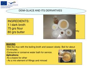 DEMI-GLACE AND ITS DERIVATIVES