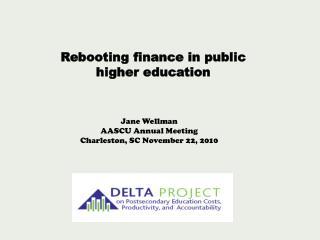 Rebooting finance in public higher education