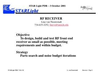 STAR Light PDR – 3 October 2001