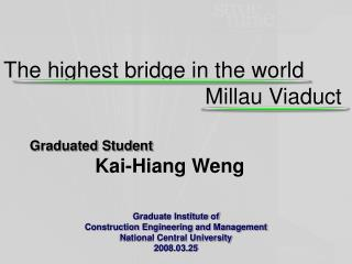 Graduated Student  Kai- Hiang Weng