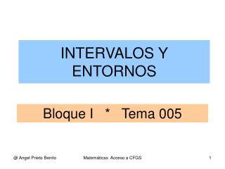 Bloque I   *   Tema 005