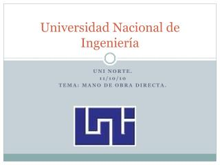 Universidad Nacional de Ingenier a