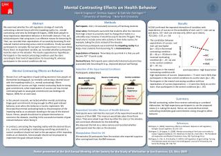 Mental  Contrasting Effects  on  Health Behavior