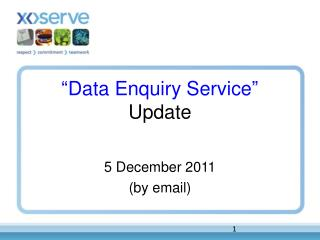 """Data Enquiry Service"" Update"