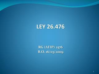 LEY 26.476