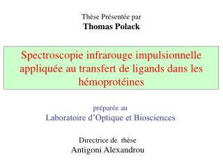 Spectroscopie infrarouge impulsionnelle appliquée au transfert de ligands dans les hémoprotéines