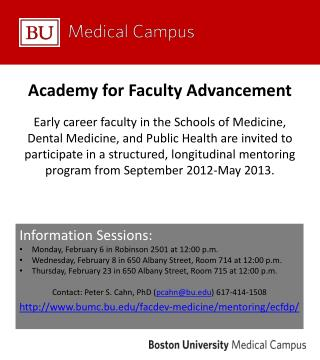 Academy for Faculty Advancement