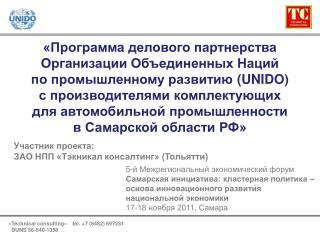 «Программа делового партнерства Организации Объединенных Наций  по промышленному развитию  (UNIDO)