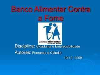 Banco Alimentar Contra a Fome