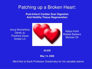 Patching up a Broken Heart: Post-Infarct Cardiac Scar Digestion And Healthy Tissue Regeneration