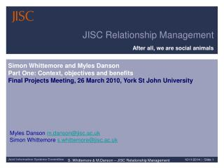 JISC Relationship Management