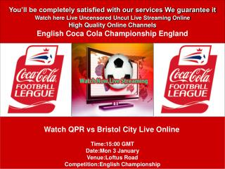 QPR vs Bristol City LIVE STREAM ONLINE TV SHOW