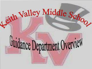 Guidance Department Overview