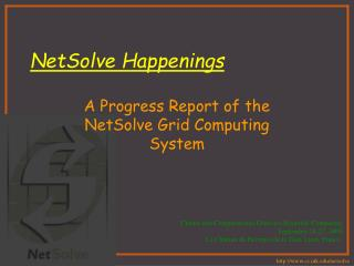 NetSolve Happenings