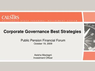 Corporate Governance Best Strategies