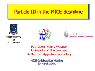 Particle ID in the MICE Beamline