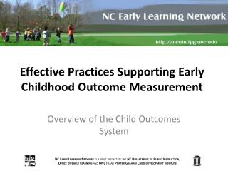 Effective Practices Supporting Early Childhood Outcome Measurement